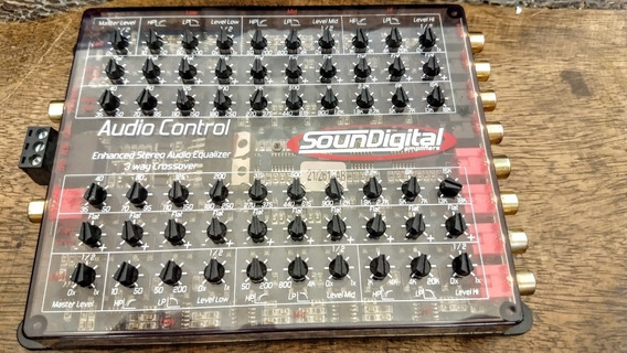 Sounddigital Audio Control Cossover 3 Vias E Equalizador