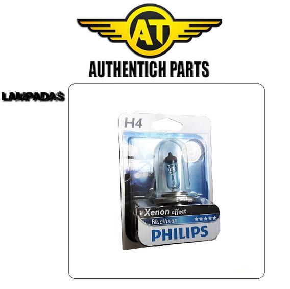 Lampada Philips Blue Vision H4 Jeep Cherokee 4.0 92 À 98 - Lampada Do Farol Baixo E Alto