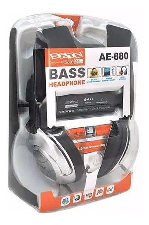 Headphone Bass Satellite Ae-880 Com Microfone