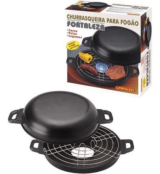 Churrasqueira Para Fogão Black 30 Cm Sem Fumaça Fortaleza