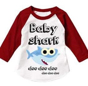 Paquete De 4 Playeras Familiar Baby Shark