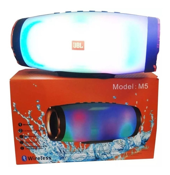 Corneta Portatil Jbl M5 Bluetooth Mp3 Celular Multicolor