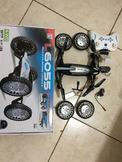 Drone E Carro L6055 Com Camera Wifi Hd
