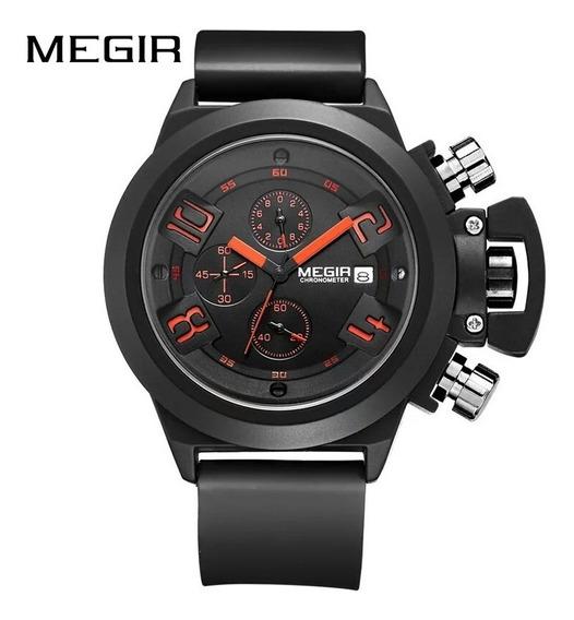 Relógio Megir 2002 Masculino Quartz Casual Original 3 Atm