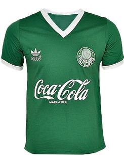 Camisa Retrô Palmeiras 1989/1990 - Bordada - 100% Algodão !