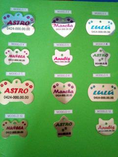 Placas Identificadoras Para Mascotas En Aluminio Con Fotos