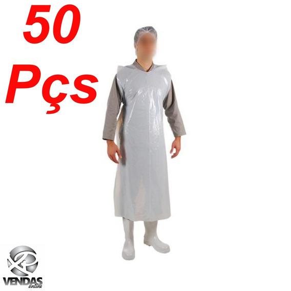 Avental Plástico Polietileno Leitoso 170x0.70 Esp1,35 Com 50