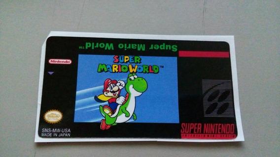 Label Super Mario World Snes Super Nintendo