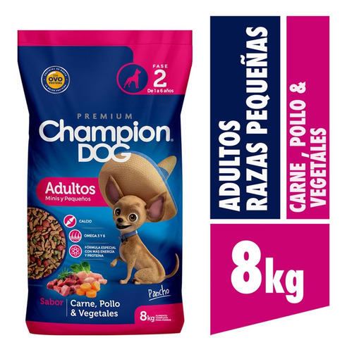 Champion Dog Adulto Razas Pequeñas 8kg