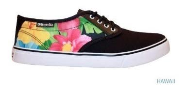 Zapatilla Glock Boston Dama Floral Lona Urbanas Skate