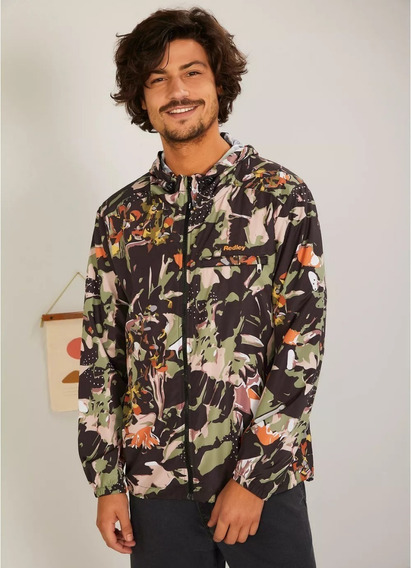 Jaqueta Redley Windbreak Estampado Camufa Preto Original