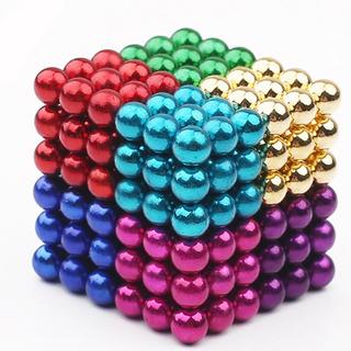 216pcs Puzzle Cube 3mm Bola Magnética Color Aleatorio