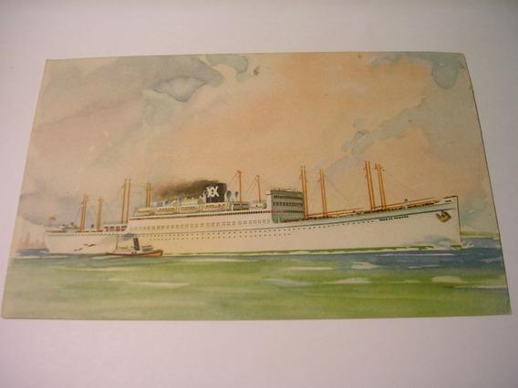 Antigua Postal Transatlantico Crucero Barco Ibarra Y Cia