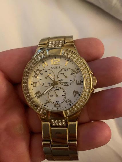 Relógio Fem Guess Dourado