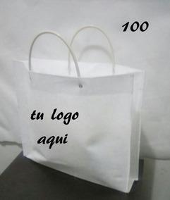 531f1ed57 Bolsas Mandado Paq100 Piezas Personalizada Blanca Con Popote