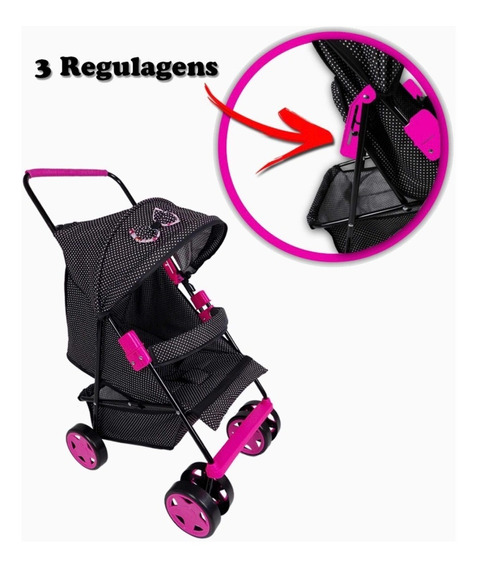 Carrinho De Luxo Para Bebe Reborn Menina Boneca