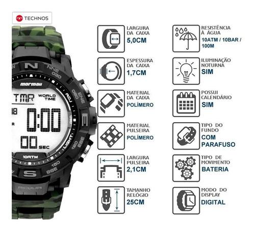 Relógio Mormaii Army Green Camuflado Technos Original