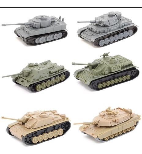 Tanques 4d Escala  Modelismo Plastico 6pzs