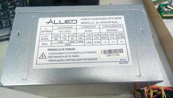 Fonte Atx 24 Pinos + Sata Allied Al-a300atx (a) 285w
