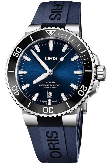 Reloj Oris Aquis 73377304135 Con Fechador Automático