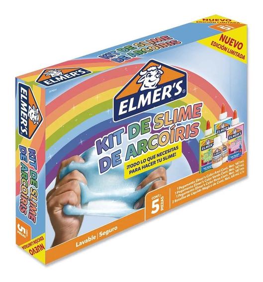 Kit Slime Arcoiris Elmers 5 Piezas, Masa, Edicion Limitada