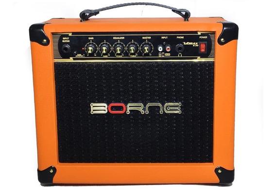Amplificador Cubo Borne Guitarra Vorax 630 Laranja 25w Rms
