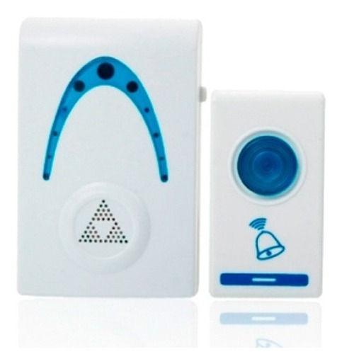 Campainha Doorbell Sem Fio 32 Toques Led Wireless Wifi Branc