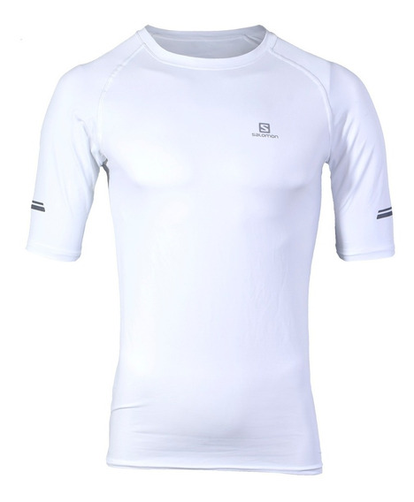 Remera Salomon Hybrid Ss Tee Hombre Blanco