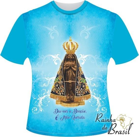d778f4fe66d7 Camiseta Nossa Senhora Aparecida Azul Marinho - Camisetas e Blusas ...