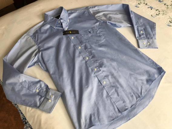 Polo Ralph Lauren Pin Point Camisa Para Caballero Talla 16