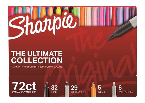 Imagen 1 de 4 de Set Marcadores Sharpie Colección X 72 - Arte - Fibra