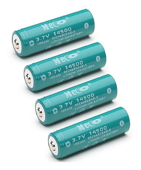 Bateria 14500 Recarregável Meco 3.7v 1200mah