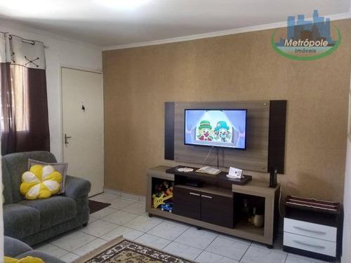 Apartamento Com 2 Dormitórios Para Locação  56 M² Por R$ 900,00 - Jardim Santo Expedito - Guarulhos/sp - Ap0934