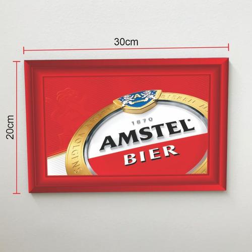 Quadro 30x20 Cerveja Amstel Modelo 2