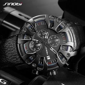 Relógio Sport Fino Tático Preto Com Cronometro Frete Grátis