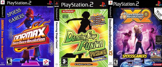 Dance Ps2 Coleção (3 Dvds) Patch Jogos De Tapete