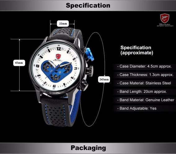 Relógio Shark Megalodon Sh089 - R$150,00 (de Mostruário)