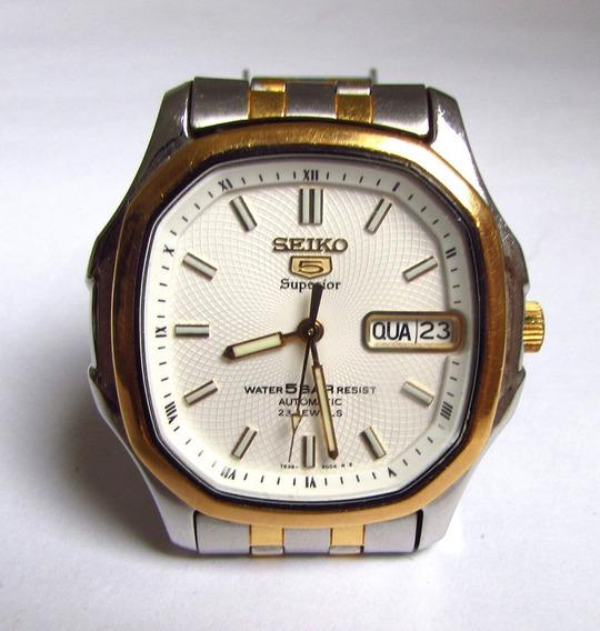 Relógio Automátic Seiko 5atm Original Pulseira 17cm Relíquia