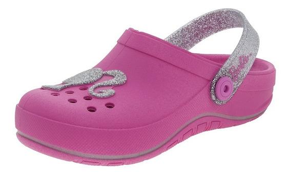 Clog Infantil Feminino Barbie Pink Grendene Kids - 21716