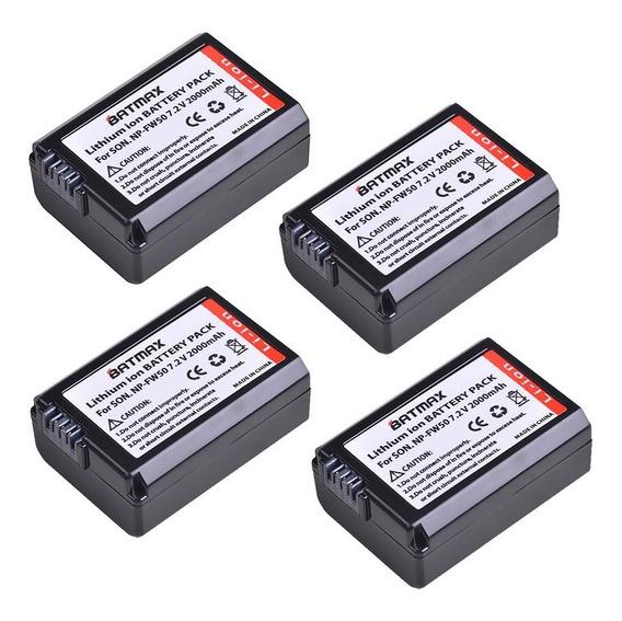 4x Bateria Fw50 Sony A7ii A7 A7s A6500 A6400 A6300 Batmax Nf