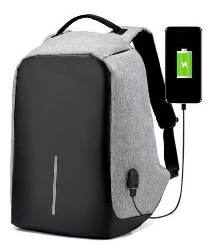 Mochila Porta Notebook Antirrobo Urbana Con Espacio Para Tablet Y Puerto De Carga Usb