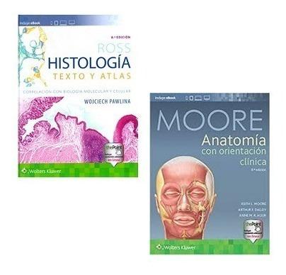 Imagen 1 de 3 de Paquete Ross Histología Y Moore Anatomía Clínica 8va Edición