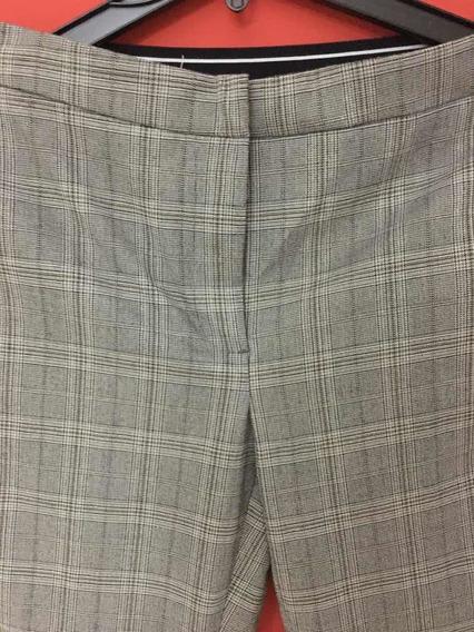 Pantalon Principe De Gales Cintura Elástica Cuadro