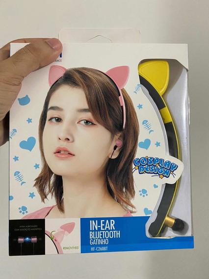 Fone Bluetooth Tiara Orelha De Gato