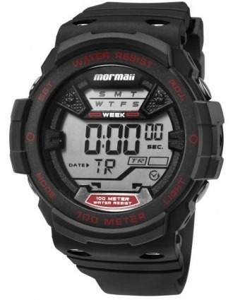 Relógio Mormaii Masculino Digital Preto/vermelho Mo3500a/8r