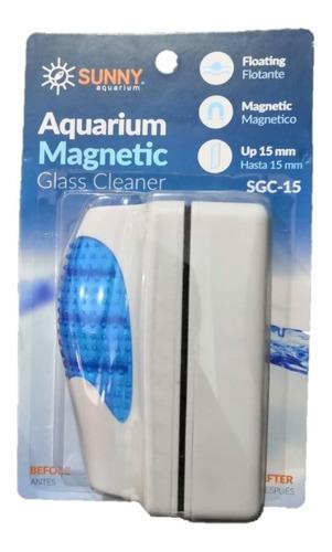 Sunny Limpiador Magnetico Flotante Sgc-15 Acuario Pecera