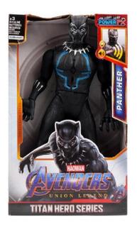 Black Phanter Muñeco Con Luz 30 Cm Avengers - Pantera Negra