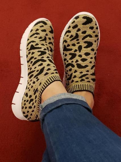 Zapatillas Zapas Elastizadas Animal Print Leopardo