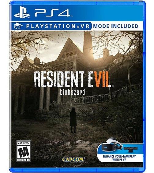 Resident Evil 7 Ps4 Com Modo Vr Mídia Fisica Lacrado