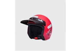 Capacete Moto Aberto Wind V2 Speed Lines Vermelho Tam 56